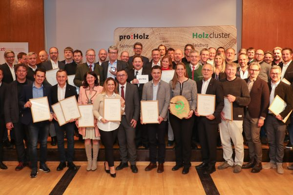 Verleihung Holzbaupreis Salzburg im Hotel Hefterhof Pro Holz Salzburg, Salzburg Holz Cluster Foto: Franz Neumayr    31.1.2019