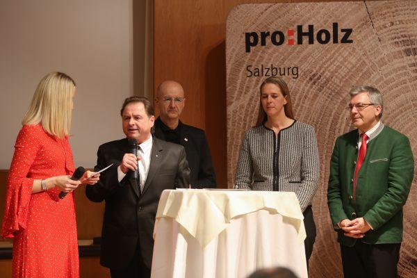 Verleihung Holzbaupreis Salzburgim Hotel HefterhofPro Holz Salzburg, Salzburg Holz ClusterFoto: Franz Neumayr    31.1.2019